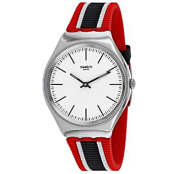 Swatch Uomini's Skinflag White Dial Watch - SYXS114