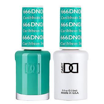 DND Duo Gel & Nail Polish Set - Caribbean Sea 666 - 2x15ml