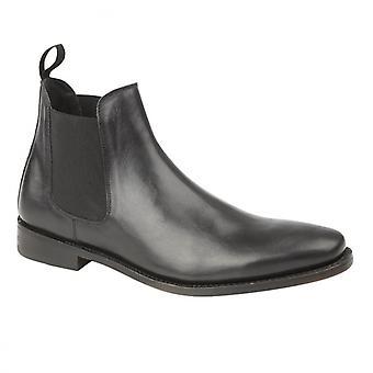Kensington Ted Mens Leather Chelsea Boots Black