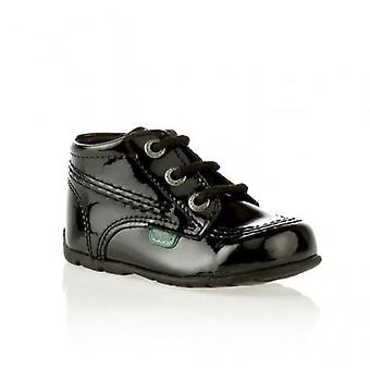 Kickers Kick Hi Babies Patent Leather Boots Black