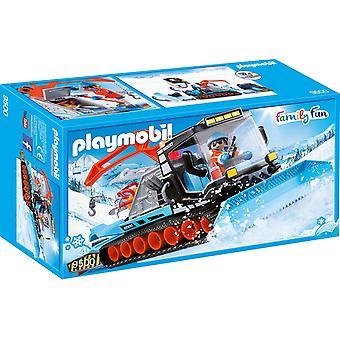 PLAYMOBIL-οικογένεια διασκέδαση χιονόμπαλα παιχνίδι