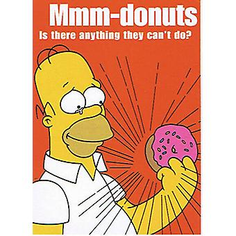 The Simpsons Do-nuts Postcard
