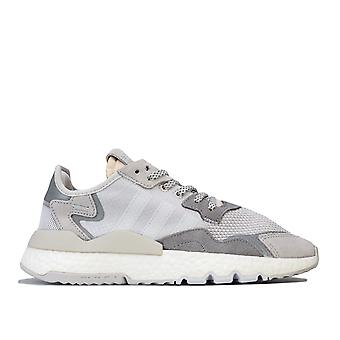 Womens adidas Originals Nite Jogger Trainers In Grey One / Crystal White / Grey