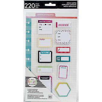 Happy Planner Sticky Notes 220/Pkg-Appointments-Classic, 11 Designs/20 Each