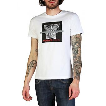 فيرساتشي جينز - ملابس - تي شيرت - B3GTB71C_30134_003 - رجال - أبيض ، أسود - XXL
