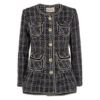 Darling Women-apos;s Purple Elsa Checked Jacket M Royaume-Uni 12