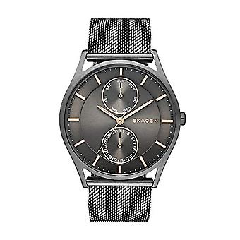 Skagen men's analog clock with metal plated stainless steel SKW6180
