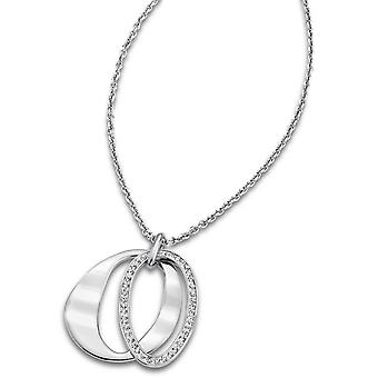 Necklace and pendant Rainbow LS1672-1-1 - necklace and pendant steel crystals woman