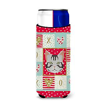 American Shorthair Cat Michelob Ultra Hugger for slim cans