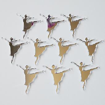 Reife Ballerina Mini Handwerk Größe Acryl Spiegel (10Pk)