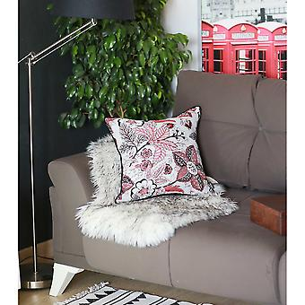 """17""""x 17"""" Multicolor Jacquard Forest Decorative Throw Pillow Cover"""