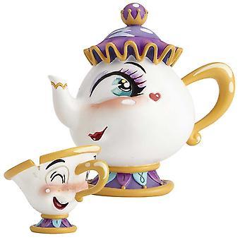 The World of Miss Mindy Presents Disney Mrs Potts & Chip Figurine