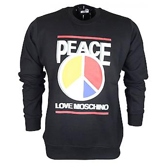 Love Moschino Regular Fit ronde vrede Moschino zwart Sweatshirt