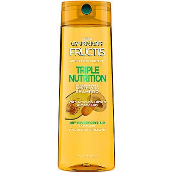 Garnier Fructis Triple Nutrition Shampoo, with Avocado, Olive & Almond Oils, 370 ml