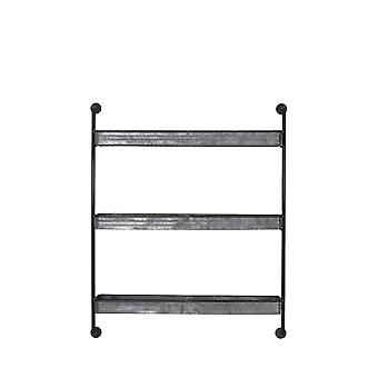 Light & Living Wall Rack 3 Layers 84.5x19.5x104cm Anegada Zinc
