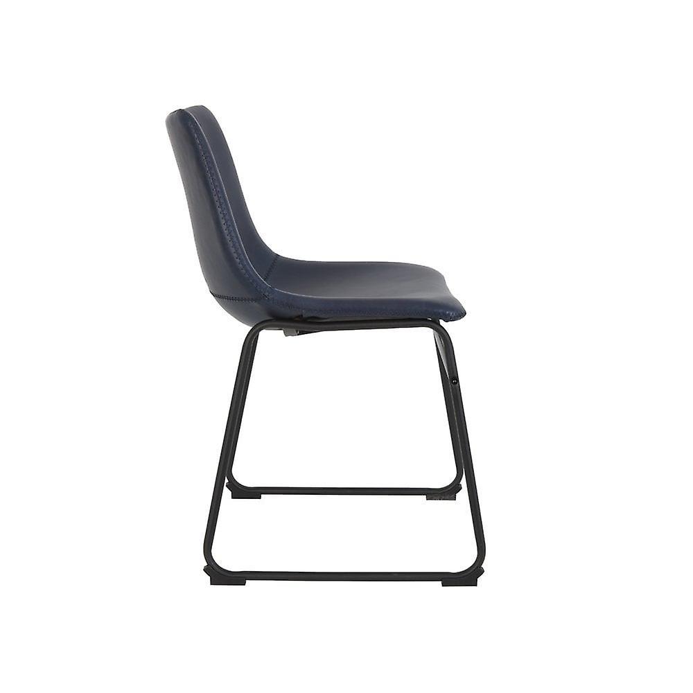 Chaise de salle à manger légère et vivante 55x45x79cm Jeddo Bleu Foncé