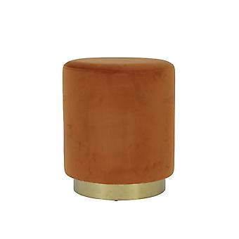Light & Living Stool 40x45cm Nadien Velvet Terra And Gold