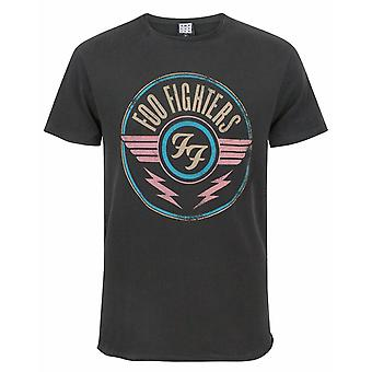 Amplified Foo Fighters FF Air Logo Men&s Adults Charcoal Grey T-Shirt
