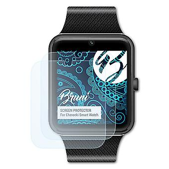 Bruni 2x Screen Protector compatibel met Chereeki Smart Watch Protective Film