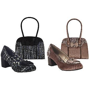روبي شو المرأة & s تاليا أحذية المحكمة الكعب المنخفض ومطابقة كوبي حقيبة