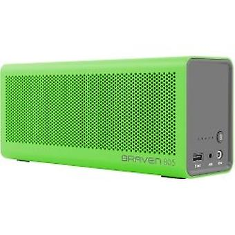 Braven 805 Portable Speaker Bluetooth HD Audio LED AUX 4,400mAh Battery - Green
