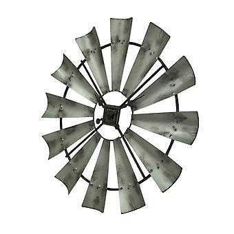 Distressed grijs rustiek 30 inch klok van de muur van de molen van metaal