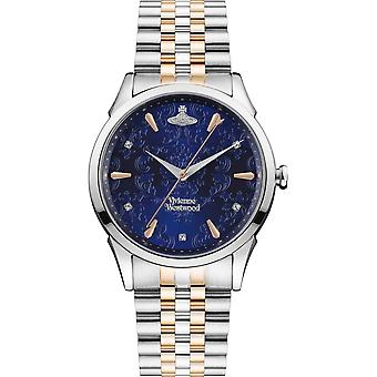 Vivienne Westwood Watches Vv208dblsr The Wallace Blue Dial, Rose Gold & Silver Stainless Steel Ladies Watch