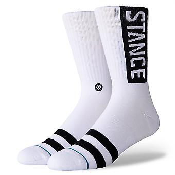 Stance Staples Men's Socks ~ Og white