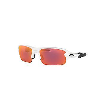 أوكلي جونيور فلاك XS OJ9005 04 أبيض مصقول / Prizm حقل Sunglases النظارات الشمسية