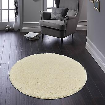 Buddy Washable Round Rugs In Cream