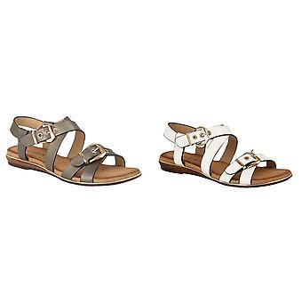Cipriata mujeres/damas Decano doble hebilla sandalia de Crossover