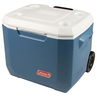 Coleman 50QT Xtreme Wheeled Camping Cooler Blue 47L