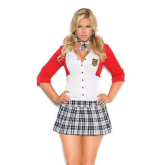 Womens Plus Size Dean List Diva School Girl Outfit Halloween Costume