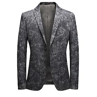 Allthemen Men's Slim Fit Suit 2 a righe floreali stampato Formal Blazer
