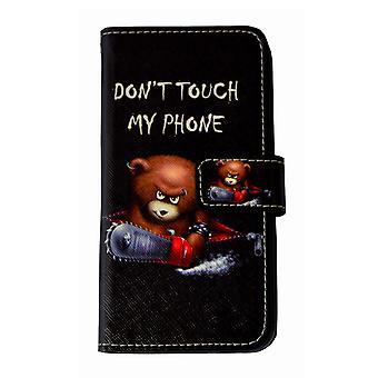 Ne touchez pas à mon téléphone ours téléphone cellulaire affaire Apple iPhone iPhone 7 8 noir