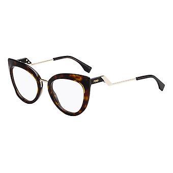 Fendi Tropical Shine FF0334 086 Dark Havana Glasses