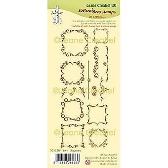 LeCrea - clear stamp combi Swirl Squares 55.6364 (01-20)