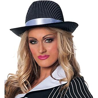 Gangster Pin Striped Hat For Adults