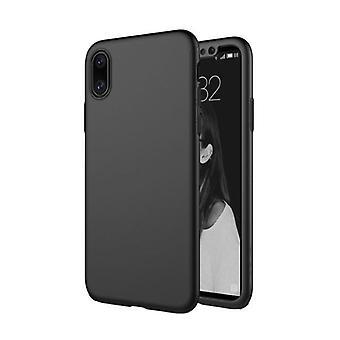 Stuff Certified® iPhone XR Full Body 360 ° Full Cover Case + Screen protector Black