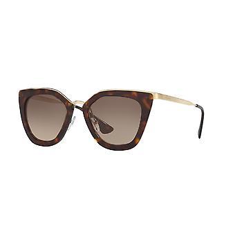 Prada SPR53S 2AU/3D0 Dark Havana-Silver/Light Brown Gradient Sunglasses