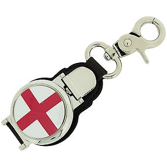 Boxx Gents St Georges Flag Picture Keyring Fob Watch, Magnetic Closure Boxx343