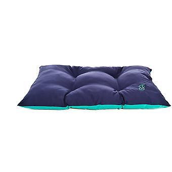 Ferribiella двухцветный подушку 120X80Cm сине зеленый (кошки, постельные принадлежности, кровати)