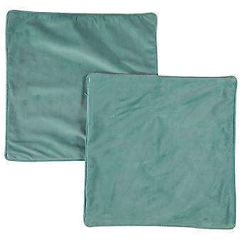 Linens and Lace Unisex Velvet Finish Cushion Cover Zip Fastening Pack Of 2