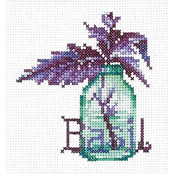 Andriana Cross Stitch Kit - Spicy Herbs - Basil