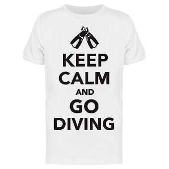 Keep Calm And Go Diving Tee Men's -Image by Shutterstock