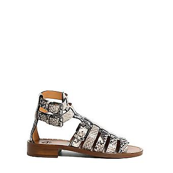 Church's Dx00859agqf0abq Women's Grey Leather Sandals