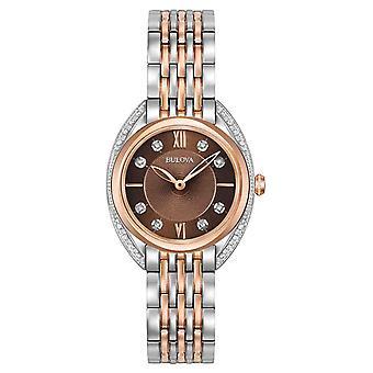 Bulova 98R230 Classic Diamond Women's Watch 30 mm