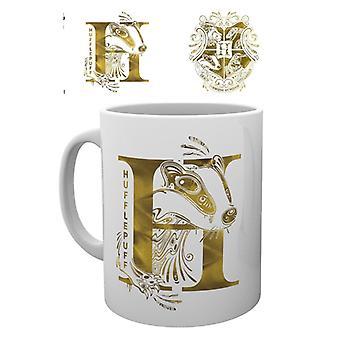 Harry Potter Hufflepuff Monogram Mug