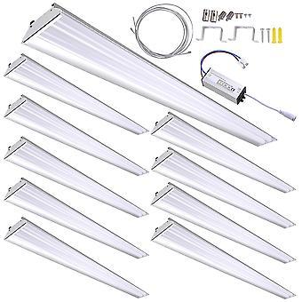DELight 10-Pack 40W LED Shop Light 5000K 4000-4500lm Garage Work Shop Hanging Light Feature Ceiling Light Aluminum