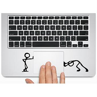 GNG Herngee Cute Matchman-Pushing and Standing Silhouette decal stickers Macbook Trackpad-laptop or Car-window Skin Stickers